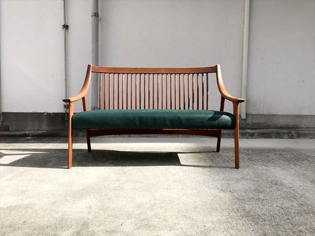 長椅子ソファチーク材フレーム