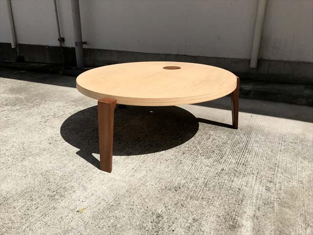 日進木工テーブルリビングラウンド作業用可