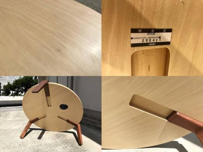 日進木工テーブルリビングラウンド作業用可詳細画像1