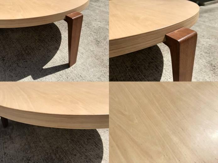 日進木工テーブルリビングラウンド作業用可詳細画像3