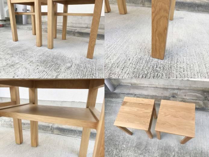 無印良品オーク無垢材サイドテーブルスツール詳細画像3