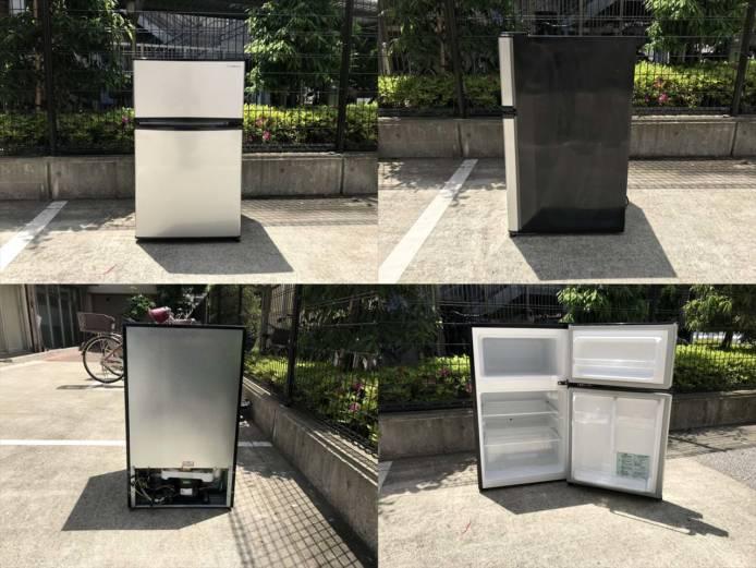 エーステージ2ドア冷蔵庫エスキュービズム90L詳細画像3