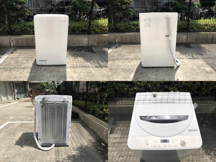 シャープ洗濯機6キロ容量黒カビブロック穴無槽詳細画像3