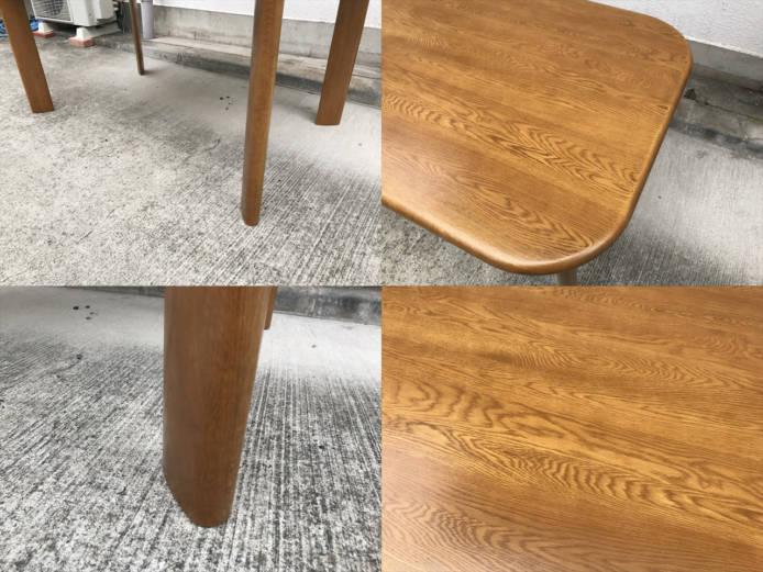 浜本工芸ダイニングテーブルチェア5点セット楢無垢材詳細画像2