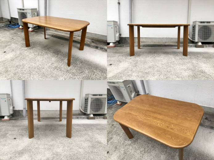 浜本工芸ダイニングテーブルチェア5点セット楢無垢材詳細画像3