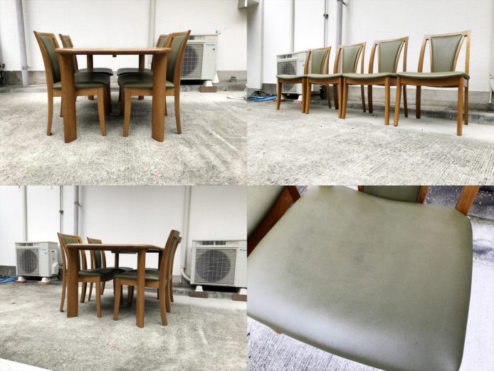 浜本工芸ダイニングテーブルチェア5点セット楢無垢材詳細画像8