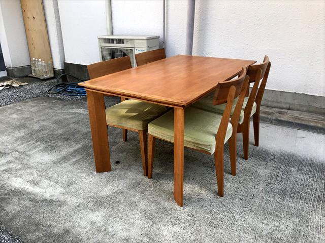 朝日木材加工ボスコダイニングテーブルチェアセット4人用